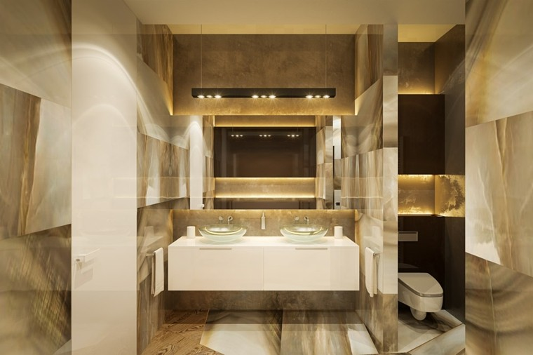 dos lavabos redondos cristal baño