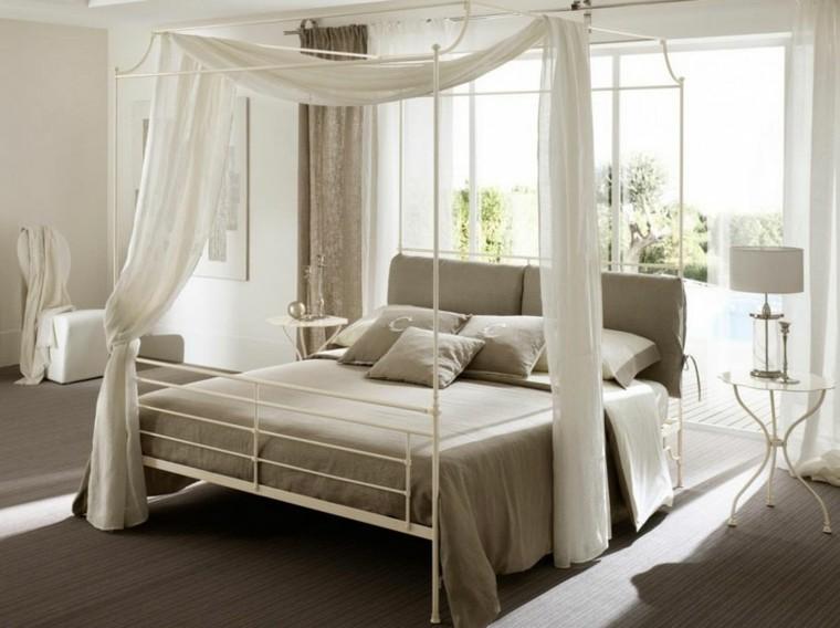 dosel color blanco cama beige