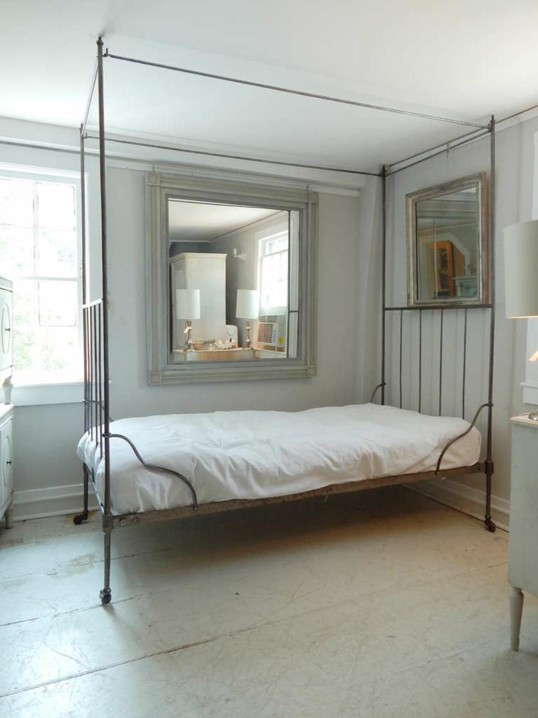 dosel diseño simple cama metal