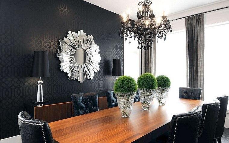 dramatismo papel pared color negro estilo casa moderna