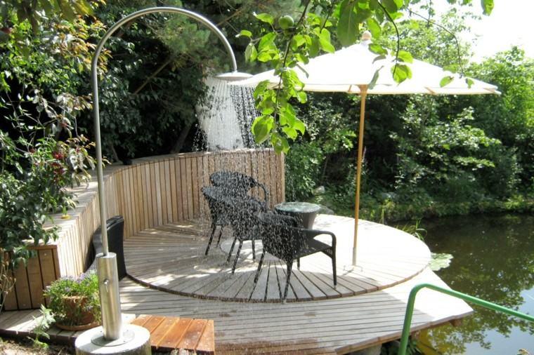 ducha clasica metal jardin plazoletas