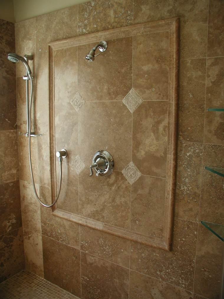 ducha piedra pulida marron cuadro