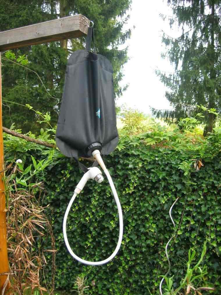 ducha portatil bolsa negra