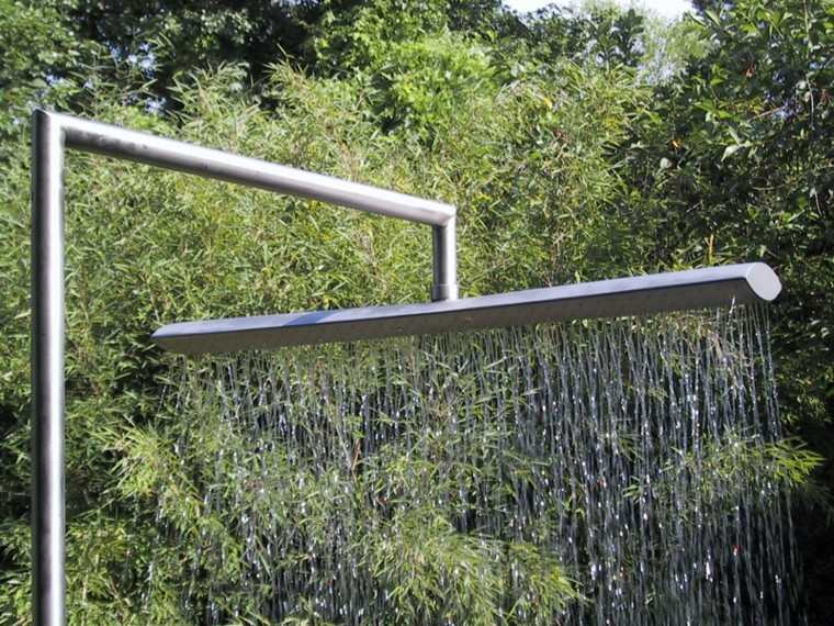 duchas exterior ancha cortina metal