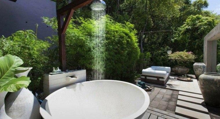 duchas jardin bañera moderna redonda