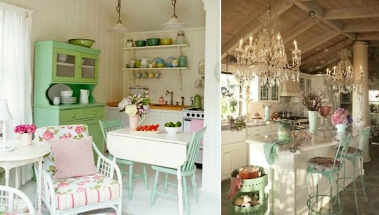 elegir shabby chic cocina pequena casa ideas