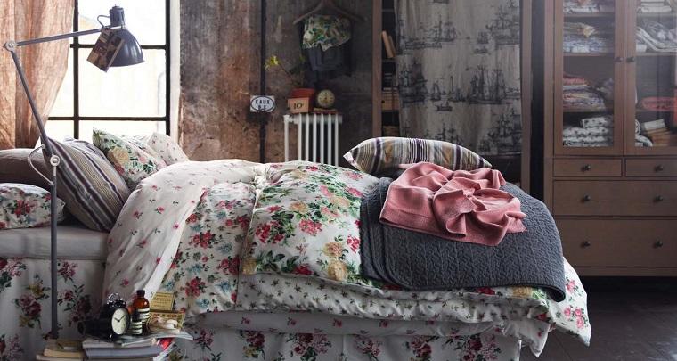 elegir shabby chic dormitorio ropa cama motivos florales ideas