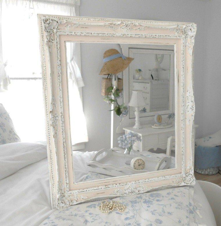 elegir shabby chic espejo madera blanco ideas  moderno