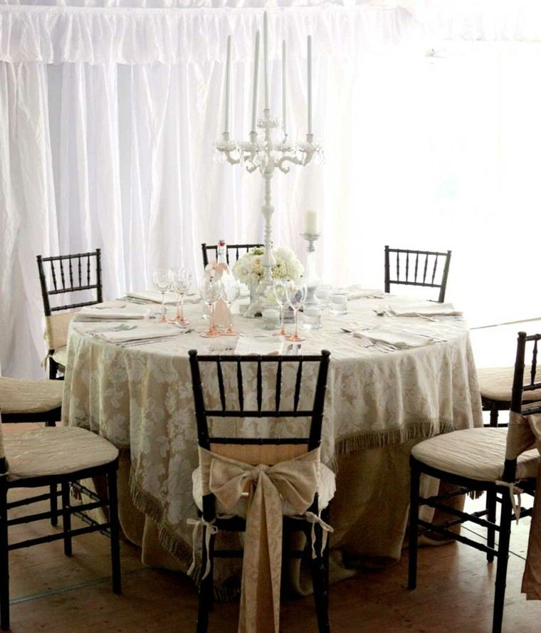 elegir shabby chic mesa comer decorada ideas