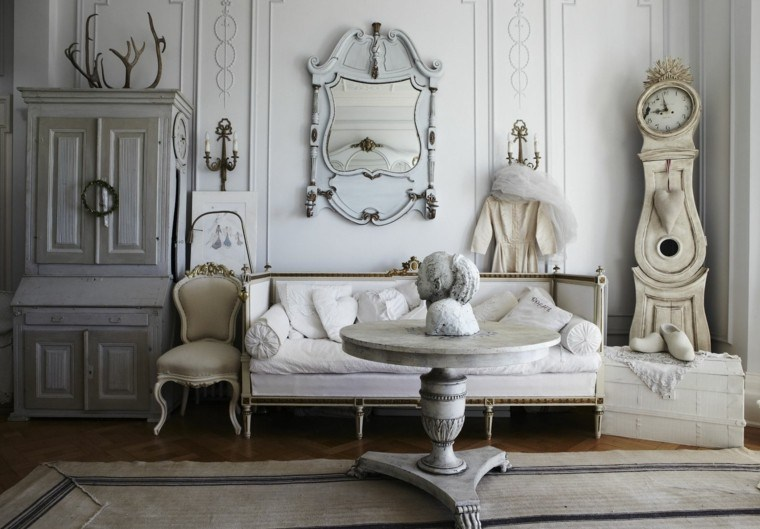 elegir shabby chic muebles salon preciosos ideas