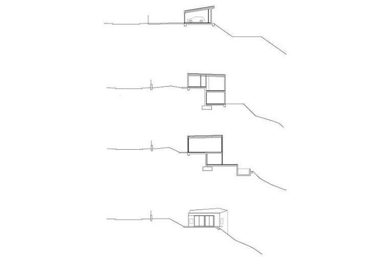 elevaciones secciones distintos niveles casa