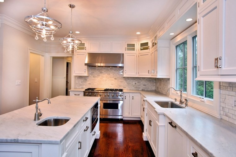 encimeras de cocina contemporranea ideas marmol moderna