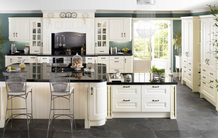 Cocinas Con Suelo Gris | Encimeras De Cocina De Marmol Elegancia Y Estilo Atemporal