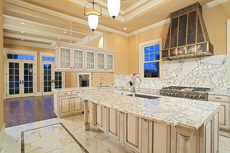 encimeras de cocina marmol pared horno tambien ideas