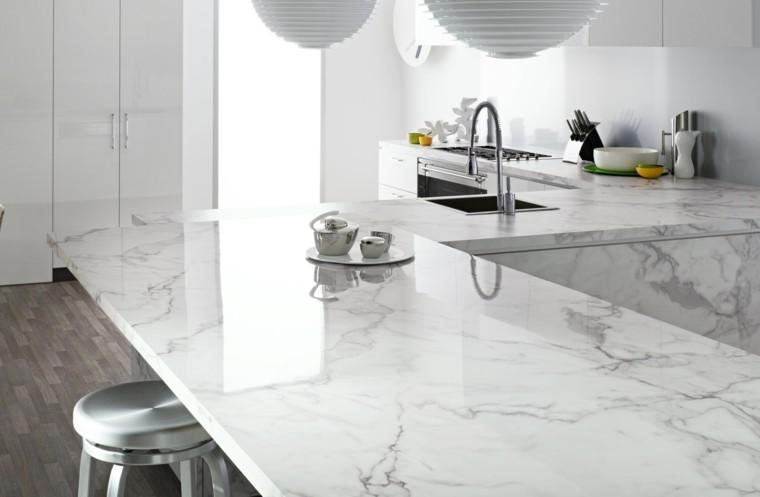 Encimeras de cocina de m rmol elegancia y estilo atemporal for Colores de granito para encimeras de cocina