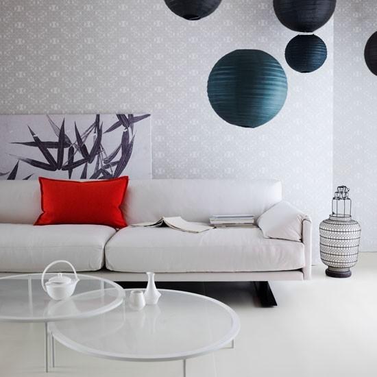 entretenimiento blanco sofa pared salon moderno ideas