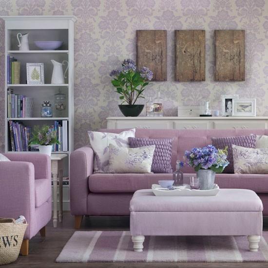entretenimiento color rosa muebles papel pared cojines femenino ideas