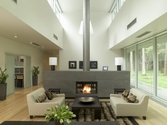 entretenimiento estilo clasico salon chimenea muebles beige ideas