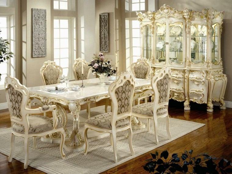época victoriana mesa marmol sillas blanco ideas