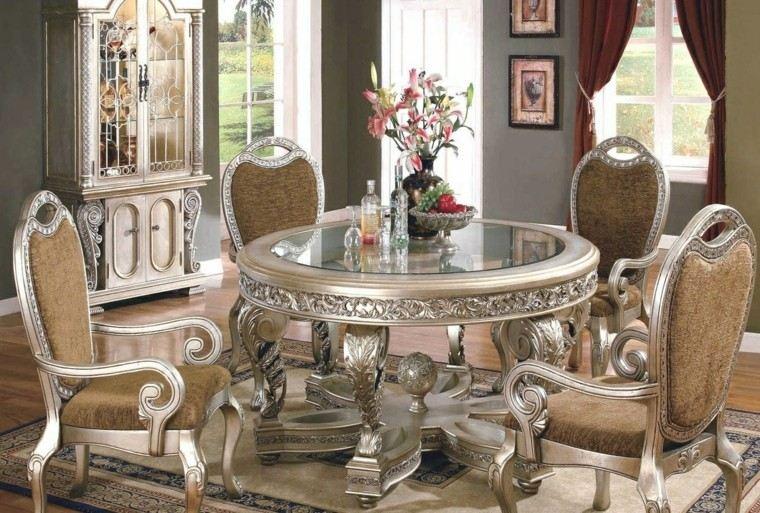 época victoriana mesa reconda cristal comedor ideas