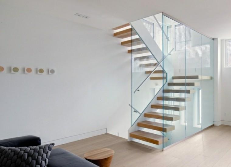 Ideas decoraci n de interiores para diversos estilos de vida - Escaleras de cristal y madera ...
