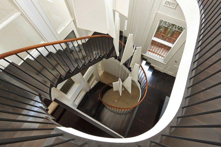 escaleras curvadas casa preciosas negras ideas