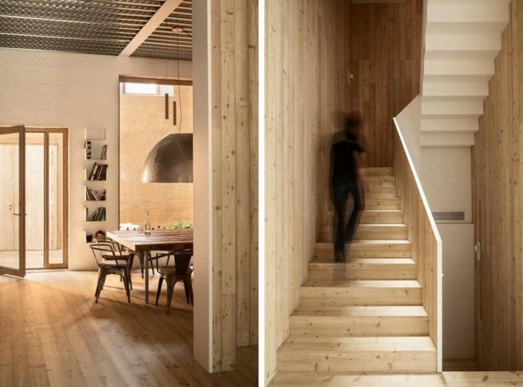 escaleras casa laminado madera