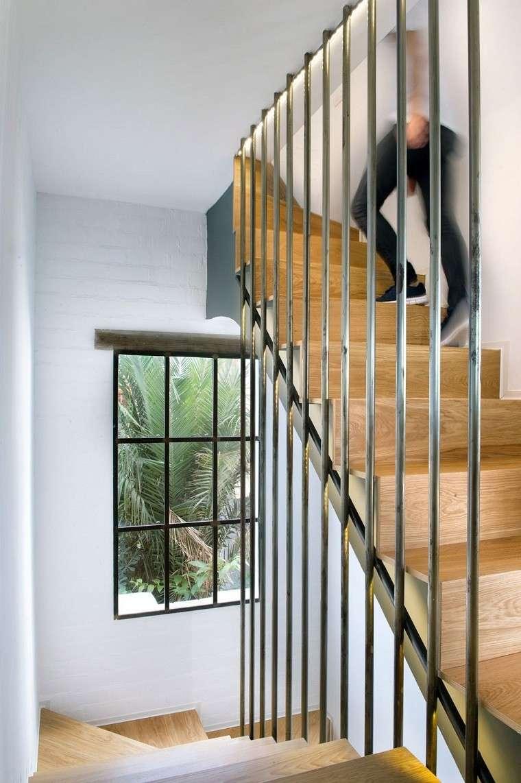 escaleras laminado roble barras verticales