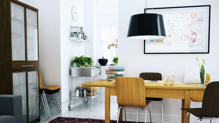 escritorio madera despacho estilo escandinavo