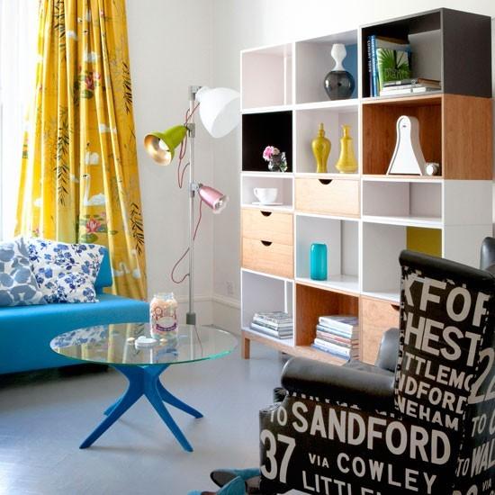 esntretenimiento sofa azul butaca estilo retro ideas
