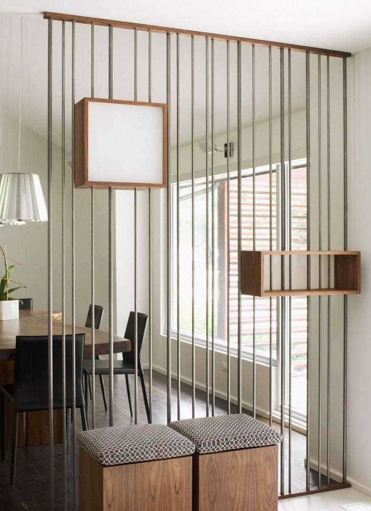 Espacio Separado Con Separadores De Ambientes Originales  # Muebles Divisorios