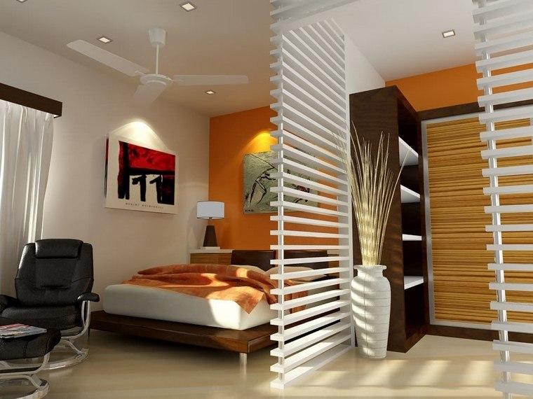 espacio dormitorio laminas blancas madera ideas modernas