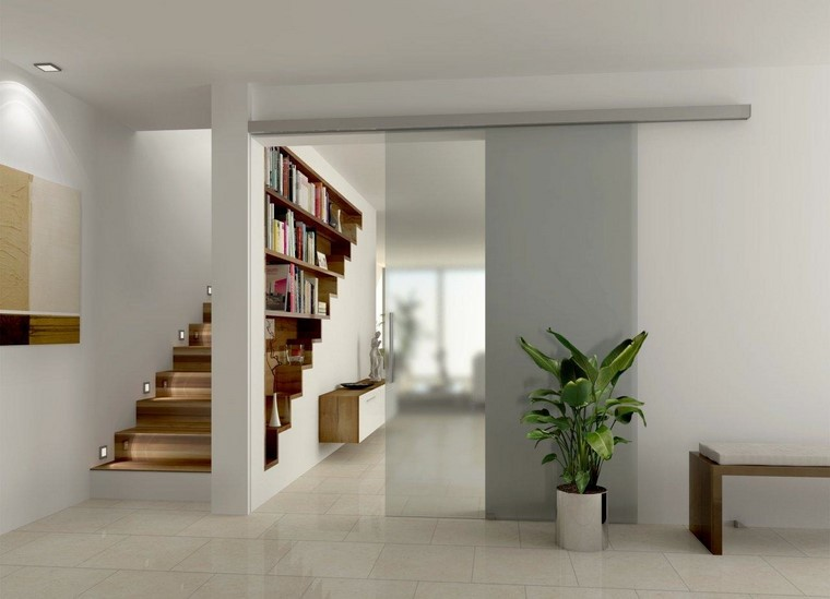 Espacio separado con separadores de ambientes originales - Estanterias de obra para salon ...