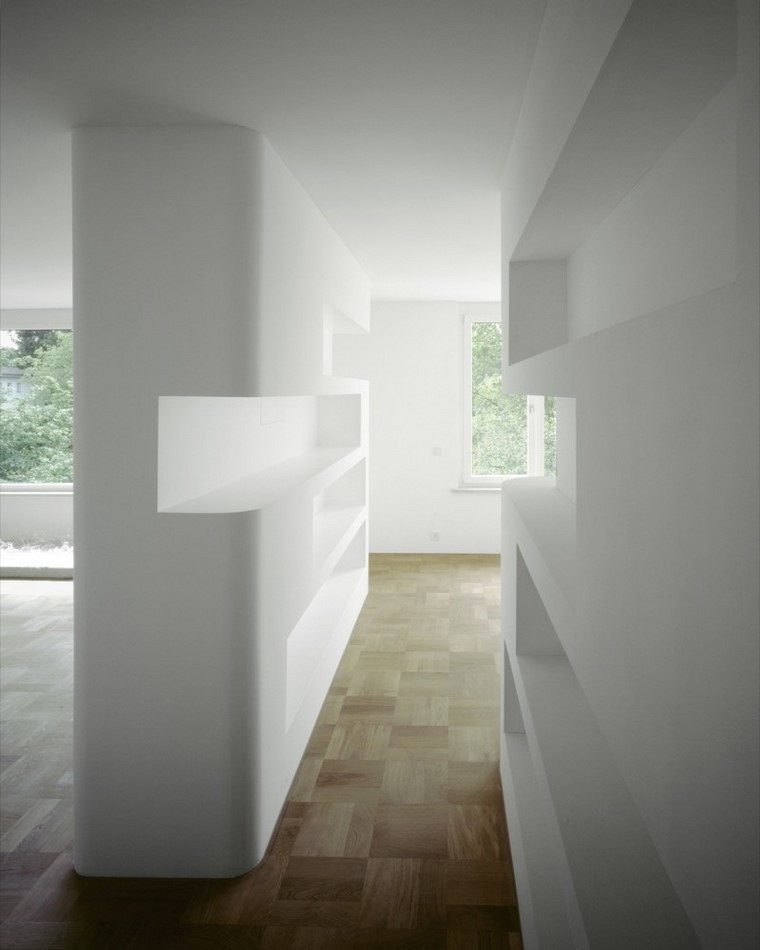 espacios interiores diseno color blanco preciosos estanteris