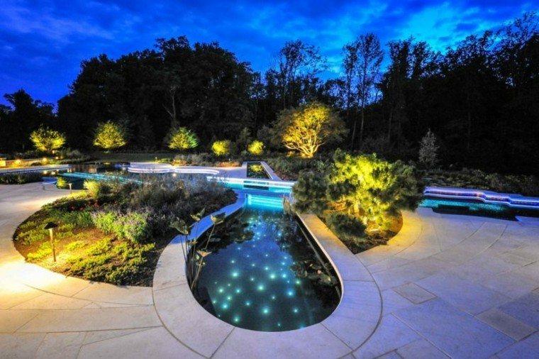 estanque ondulado lamparas led diseño