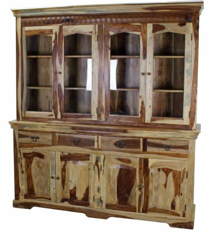 estante puertas cristales alto cocina funcional