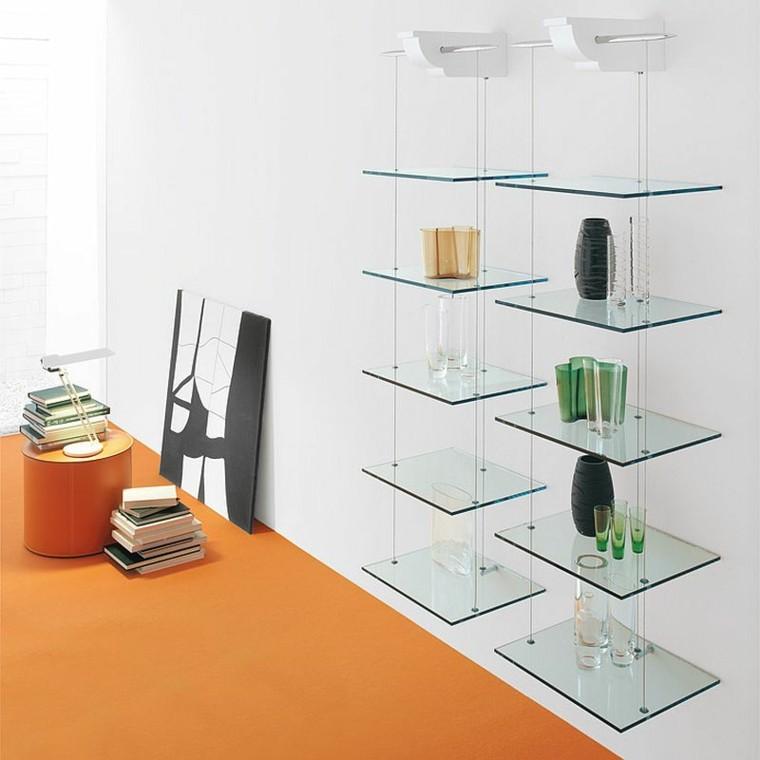 estanterias cristal adicion decorativa salon ideas modernas