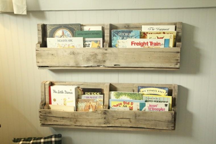 Muebles hechos con palets de madera cincuenta ideas for Estanterias de palets