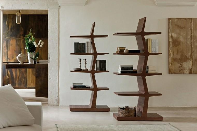 estanterias madera diseno original ideas modernas
