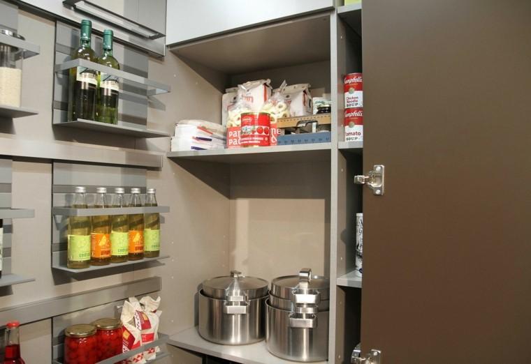 estantes cocina espacio moderno envases