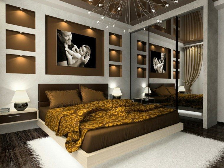 estilo lujoso dormitorio blanco marron ideas