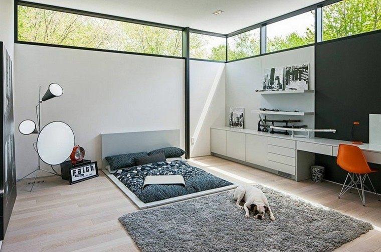 estilo minimalista cama dormitorio diseno escandinavo ideas