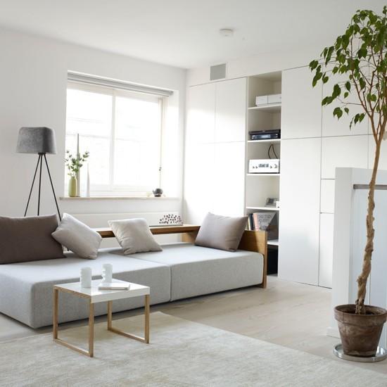 estilo moderno salon ideas colores claros minimalista