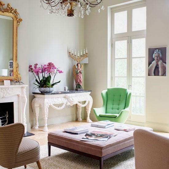 estilo shabby chic salon espejo grande moderno ideas origianles