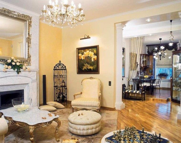estilo victoriano suelo madera taburete lujo ideas
