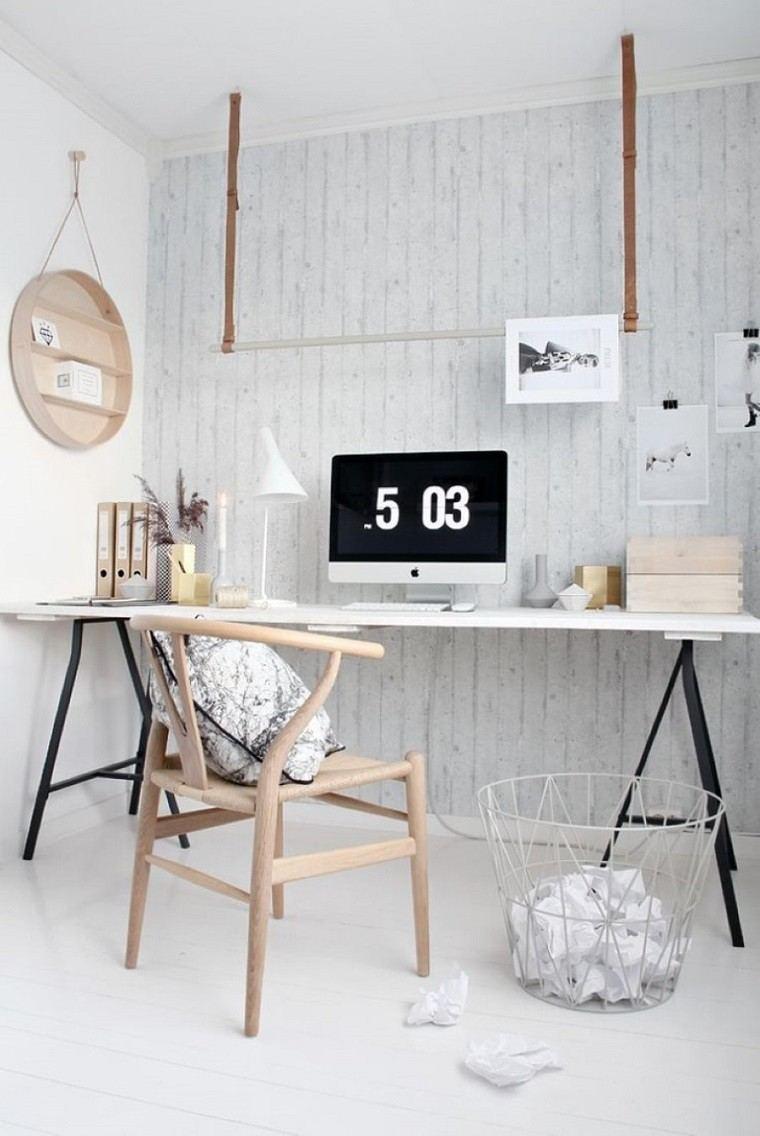 estudio escritorio estilo escandinavo