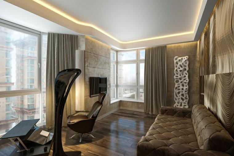 Interiores modernos 65 ideas para la decoraci n - Gimnasio paredes ...