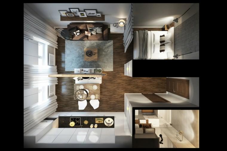 Estudios y lofts con mucha clase y estilo for Diseno de lofts interiores