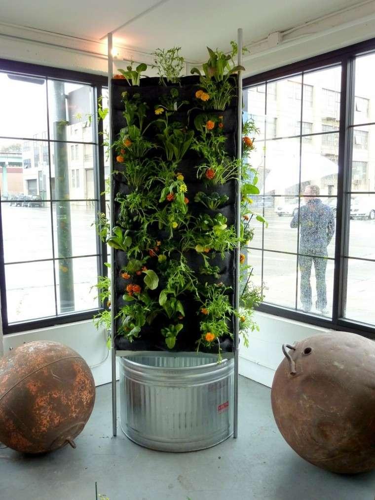 estupenda jardinera vertical interior piso