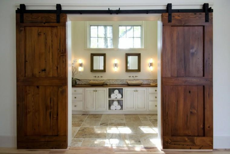 estupendo baño dos puertas correderas